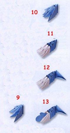Дед Мороз модульное оригами