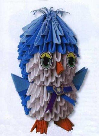 Птенчик модульное оригами