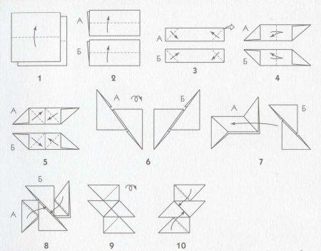 Сюрикен из бумаги как сделать