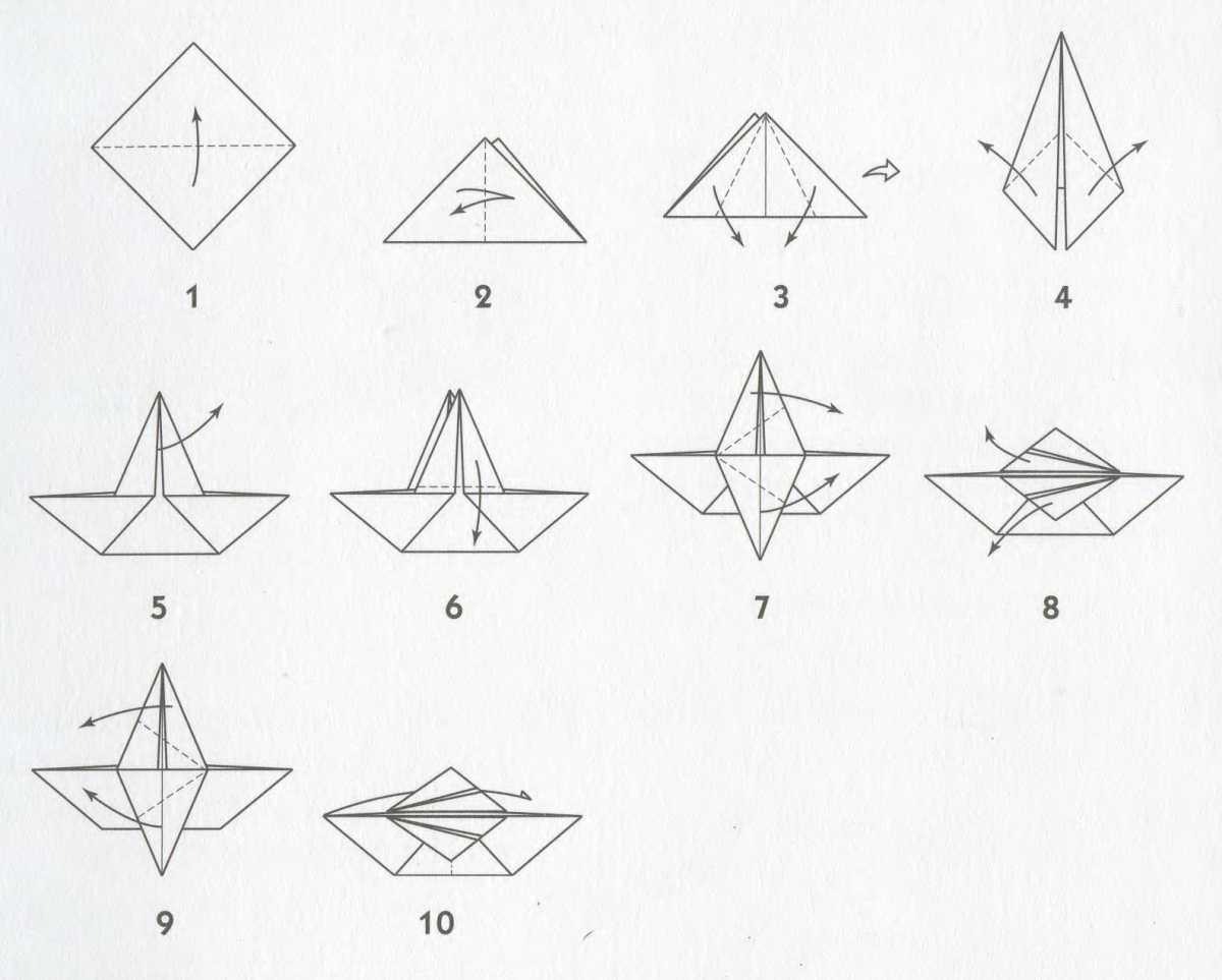 Оригами грач схема для детей 24