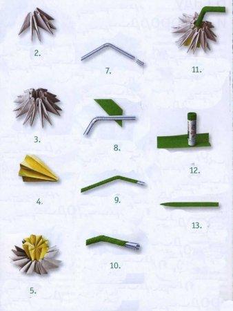 Нарциссы модульное оригами