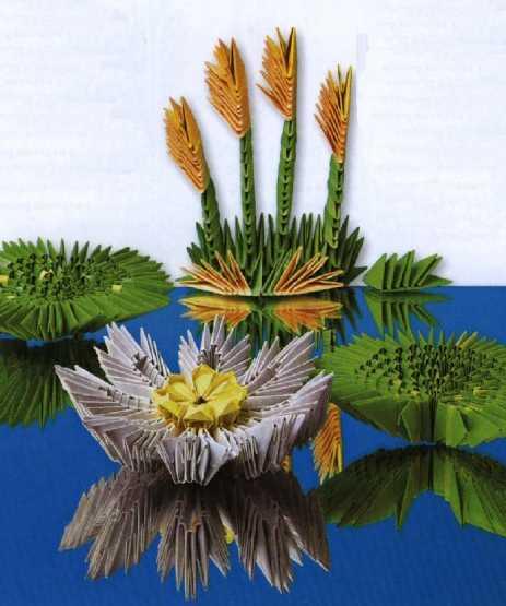 модульное оригами водяная