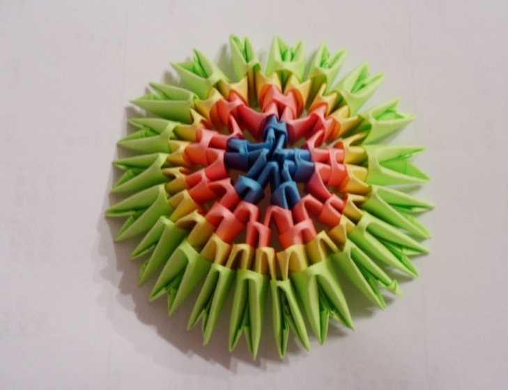 Схема сборки шара из модульного оригами