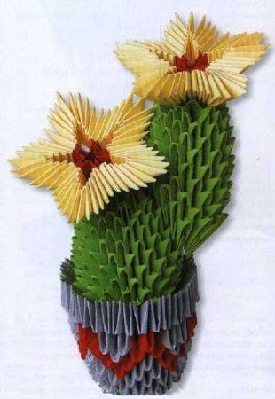 Кактус с желтыми цветами
