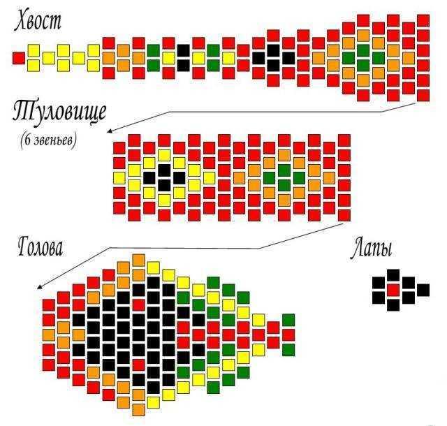 Схема сборки модульный оригами дракон