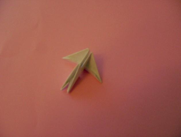 Оригами лебедя черно белого 160