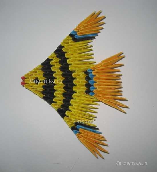 Оригами рыбка &quot