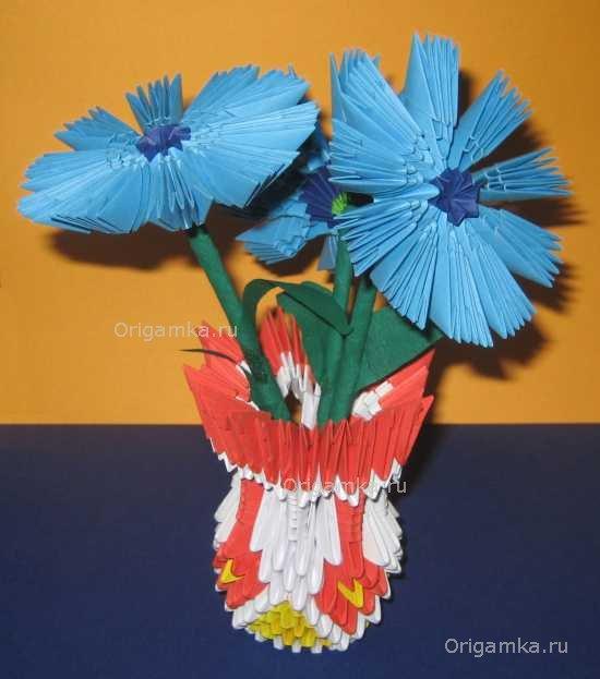 Модульное оригами цветы: