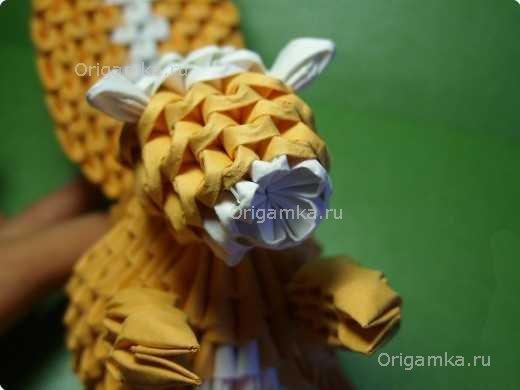 Оригами желудь схема