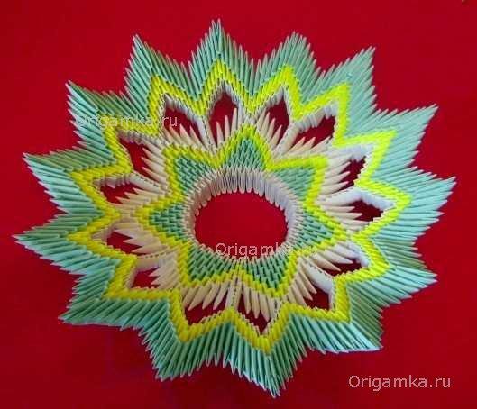 """Модульное оригами """"Тарелка"""""""