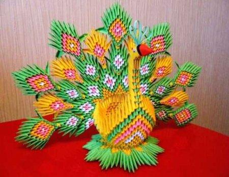 """Павлин. Модульное оригами """""""
