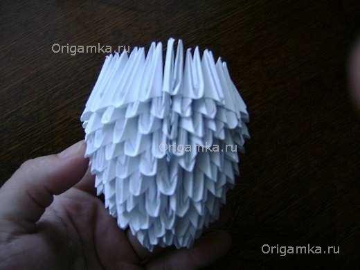 Модульное оригами голубь схема сборки фото 452