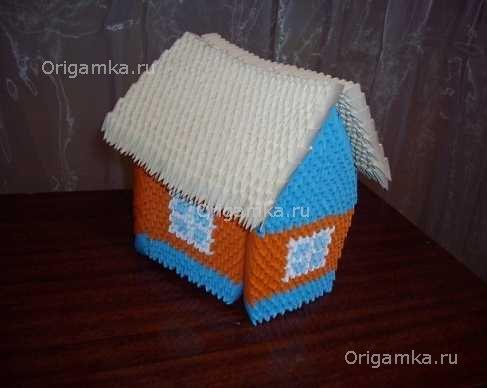 "Модульное оригами ""Домик"""