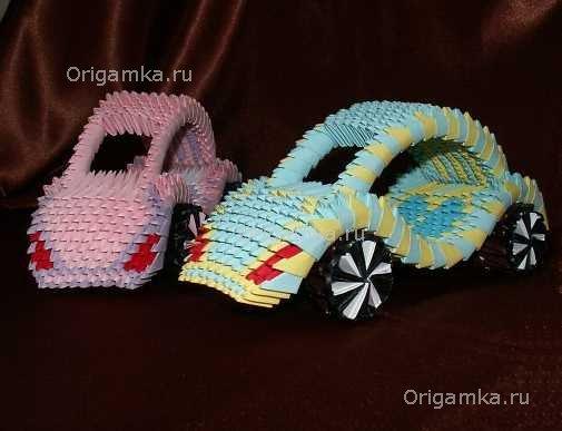 """Модульное оригами """"машинку"""""""