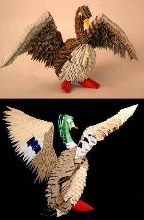 Модульное оригами утка и