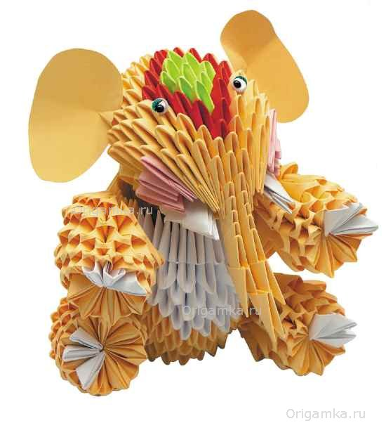 """Слоник. Модульное оригами """""""