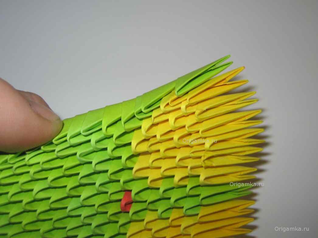 оригами змей схема сборки