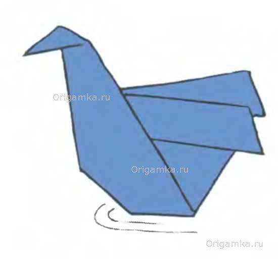 Оригами лебедь