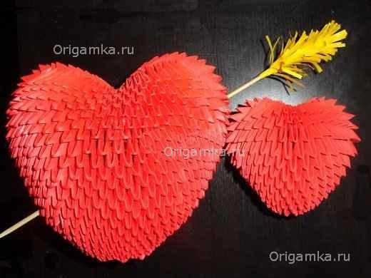 """Модульное оригами """"Сердечко"""""""