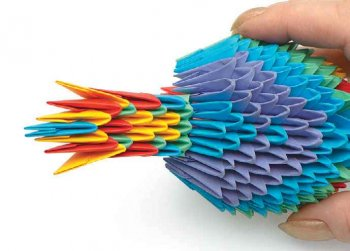 Модульное оригами попугай