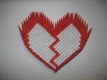 Сердечки из модулей