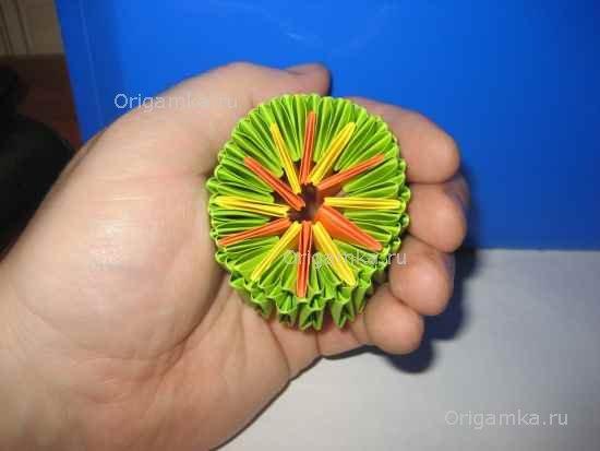 Танк оригами из модулей