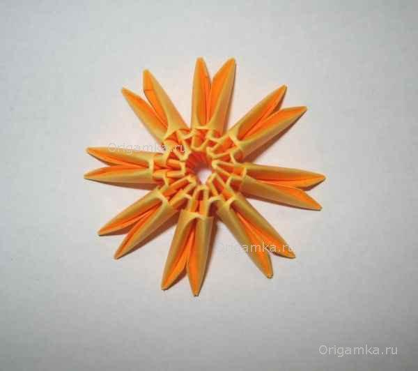 """Модульное оригами  """"Пасхальное яйцо """" ."""