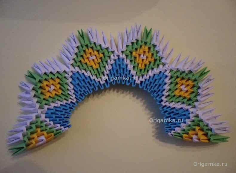 Схема модульного оригами сова 296