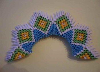 Модульное оригами «Царевна лебедь»