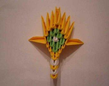 """Модульное оригами  """"Царевна лебедь """" ."""