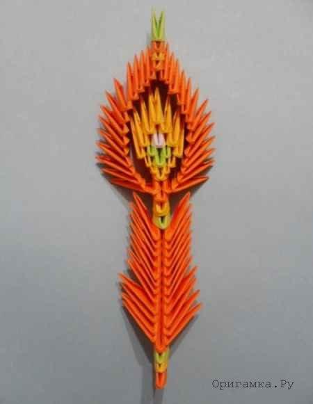 оригами лебедь жар птица