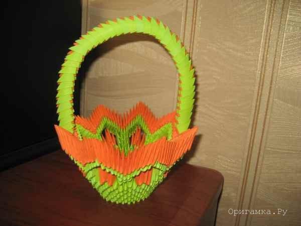 Как сделать модульные оригами корзинка