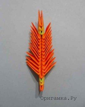 Модульное оригами «Жар-птица»