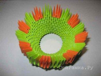 Модульное оригами «Корзинка»