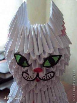 Модульное оригами «Кошка»