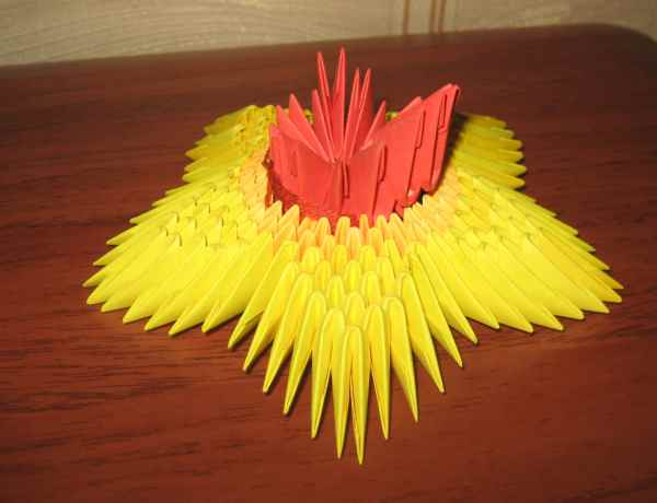 Оригами из треугольников вечный огонь - Поделки к 9 мая в детском саду, мастер-класс. Простые поделки