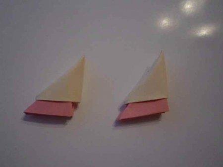 Павлин из треугольных модулей