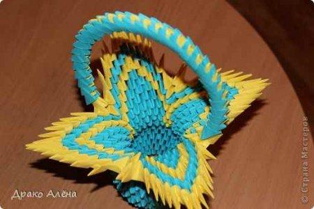 Модульное оригами «Корзиночка»