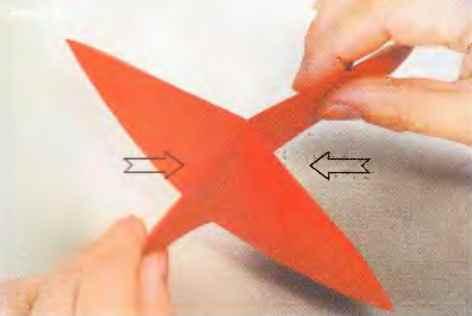 Оригами цветок из базовых треугольников
