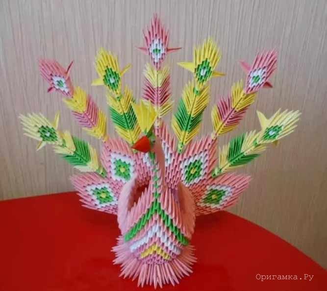 Модульное оригами «Розовый