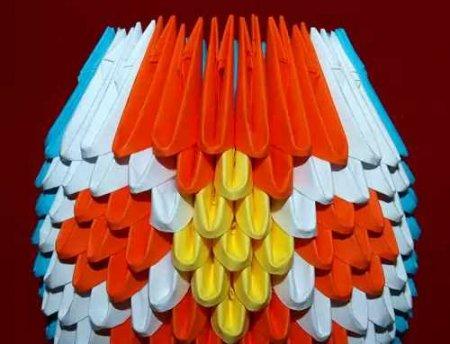 Матрешка модульное оригами