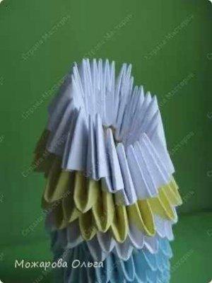 Модульное оригами «Снегурочка»