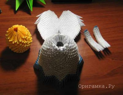 Рождественский Ангел оригами
