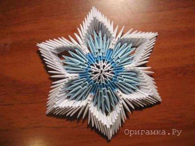 Снежинки из бумаги. Модульное оригами