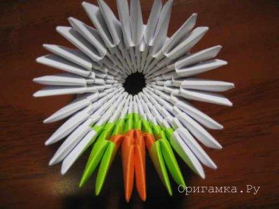 Модульное оригами лебедь «Принц»