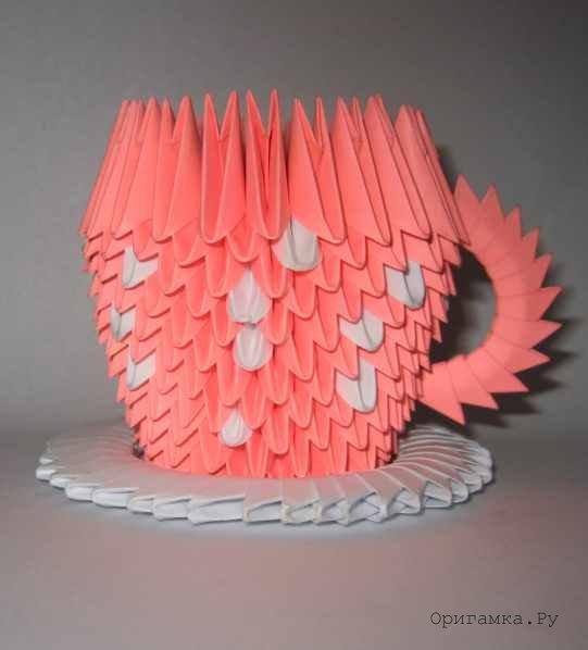 Модульное оригами «Чашка»