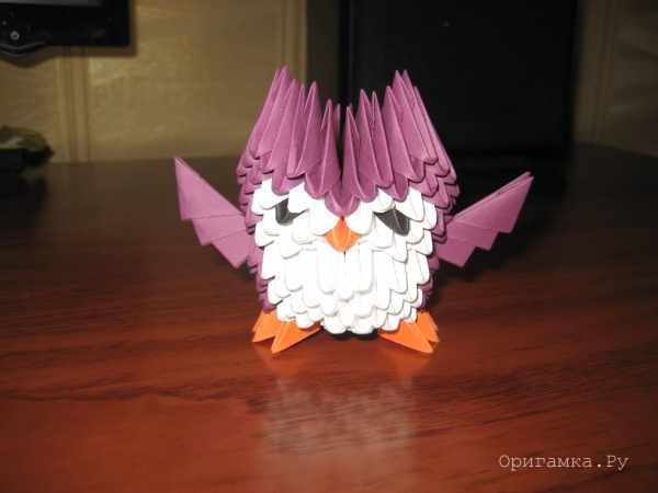 Схема модульного оригами сова 881