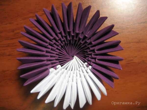 Схема модульного оригами сова 517