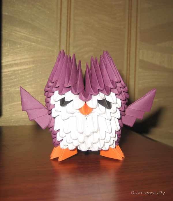 Схема модульного оригами сова 117