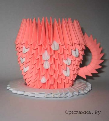 Модульное оригами чашка